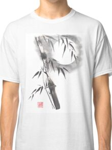 Moon blade bamboo sumi-e painting  Classic T-Shirt
