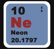 Periodic Table of Elements: No. 10 Neon by walterericsy