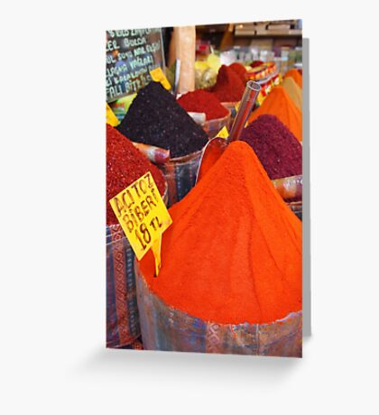 Spicy Colours Greeting Card