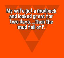 My wife got a mudpack and looked great for two days. ...then the mud fell off. by margdbrown