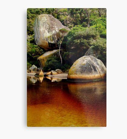 Tea Tree Stained Waters of Tidal River Metal Print