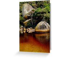 Tea Tree Stained Waters of Tidal River Greeting Card