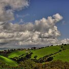 small village in the hills  by pdsfotoart
