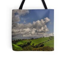 small village in the hills  Tote Bag