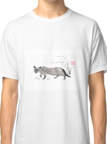 Blue-eyed menace sumi-e painting Classic T-Shirt