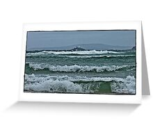 """"""" First storms of winter hit St Ives"""" Greeting Card"""