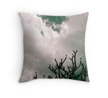 Weather moving in Throw Pillow