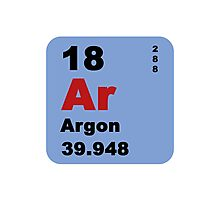 Periodic Table of Elements: No. 18 Argon Photographic Print