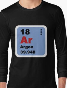 Periodic Table of Elements: No. 18 Argon Long Sleeve T-Shirt