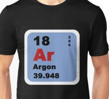 Periodic Table of Elements: No. 18 Argon Unisex T-Shirt