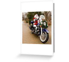 Harley Santa Greeting Card