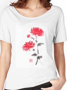 Royal pair sumi-e painting Women's Relaxed Fit T-Shirt