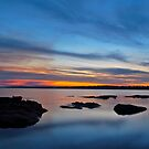 Tuggerah Lake. Sunset,,25-9-2010,Australia. by Warren  Patten