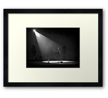 Lonely microphone Framed Print