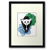 Kitty Casket Colour Framed Print