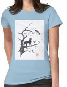 Dangerous conversations sumi-e painting Womens Fitted T-Shirt