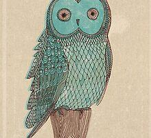 vintage blue owl by paulamills