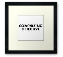 Consulting Detective Framed Print