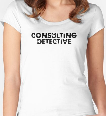 Consulting Detective Women's Fitted Scoop T-Shirt