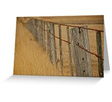 Barbed Wire Fence Greeting Card
