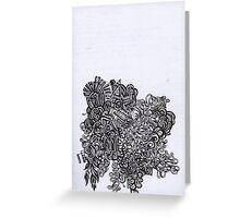 organic black lines Greeting Card