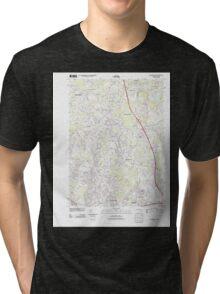 Massachusetts  USGS Historical Topo Map MA Wilmington 20120606 TM Tri-blend T-Shirt