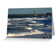 The Harbour Whitby Greeting Card