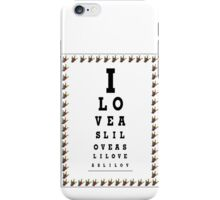 I LOVE ASL EYE CHART iPhone Case/Skin
