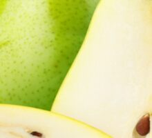 Yellow and green pears Sticker