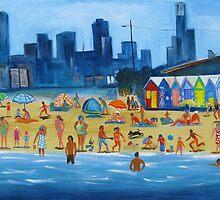 Brighton Beach huts by Karin Zeller