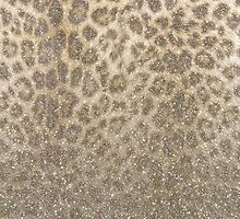 Shimmer (Golden Leopard Glitter Abstract) by soaringanchor