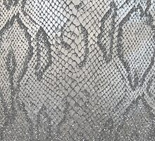 Shimmer (Silver Snake Glitter Abstract) by soaringanchor