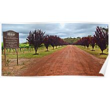 Woody Nook winery, Margaret River WA Poster
