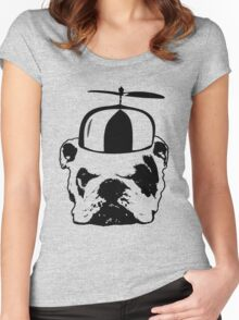 bulldog whirly hat Women's Fitted Scoop T-Shirt