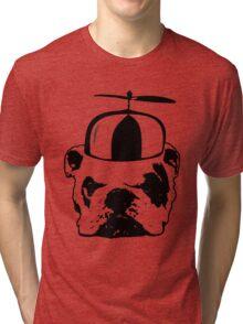 bulldog whirly hat Tri-blend T-Shirt