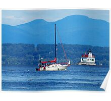Sailing the Hudson Poster