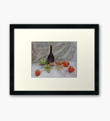 Cognac & Fruit Still Life Framed Print