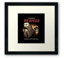 no speed Framed Print
