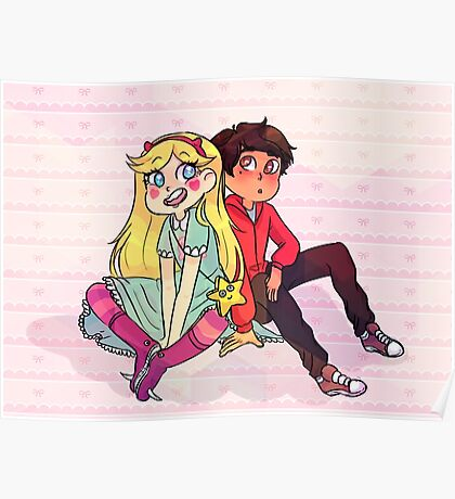 star and marco Poster