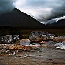 Menacing Moments At Glen Coe. by Aj Finan