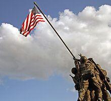 Raising the American Flag by Cora Wandel