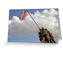 Raising the American Flag Greeting Card