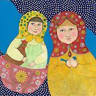 Matroushka nieces by Amanda Crawford