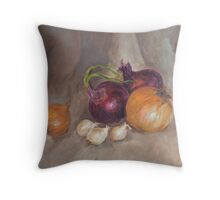 Onions & Garlic Throw Pillow