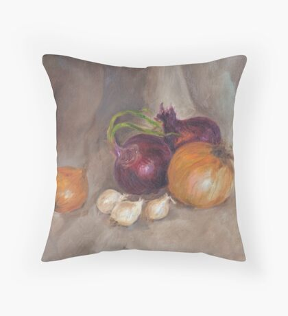 Onions & Garlic Throw Pillow