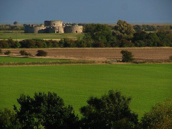 Camber Castle from Cadborough Cliffs by wiggyofipswich