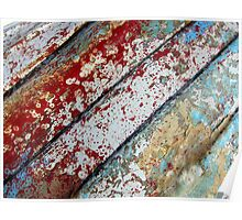 colourful abstract from upturned boat. Poster