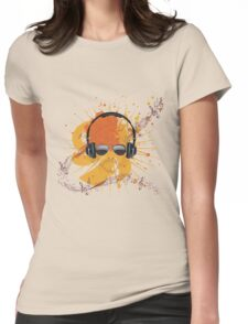 Male Dj Illustration Womens Fitted T-Shirt