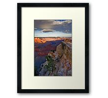 Grand Canyon National Park Cloud Reflection Vertical Framed Print