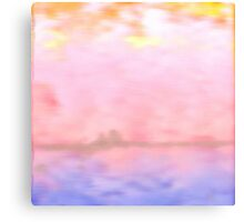 Pink Fluffy Clouds Canvas Print